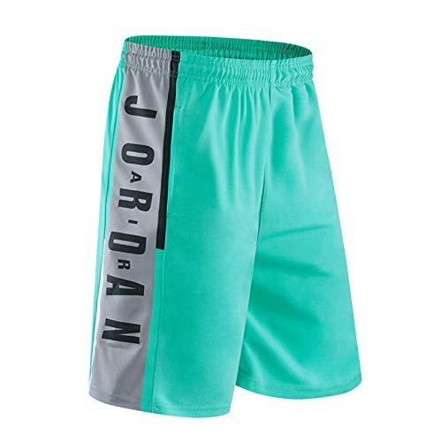 Jordan Bulls #23 Herren Basketball Shorts Aktiv Trainingsanzug Sport Laufen Casual Fitness Shorts Tragbar und Atmungsaktiv Gr. 56, 5