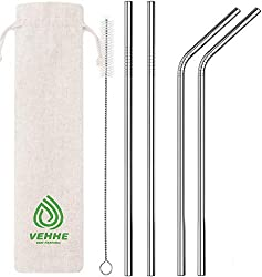 A reusable metal straw set is a great eco friendly gift option for a traveler!