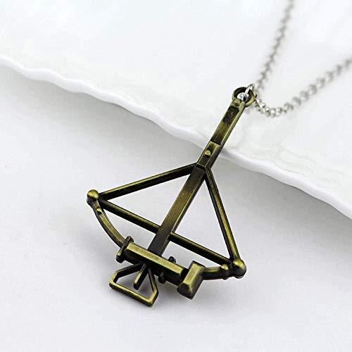NC122 Mode Steampunk Schmuck Die Walking Dead Halskette Armbrust Bogen Pfeil Anhänger Choker Colar für Männer Freund Geschenk
