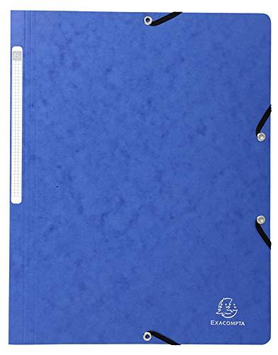 Exacompta 5512E - Carpeta con goma, color azul