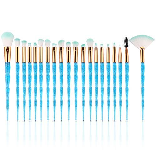 Pinsel Set, 20Pcs einhorn pinsel,make-up pinsel set,make up blending pinsel,augenbrauenpinsel,lidschattenpinsel,make up brush set,erröten pinsel,concealer pinsel,lip pinsel,schminkpinsel set (Blau)