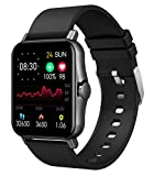 1.69' Smart Watch Fitness Tracker with Heart Rate Monitor Bluetooth Call Full Touch Screen Pedometer Stopwatch Message Notification Music Control Health Monitoring Smartwatch for Android iOS Phones