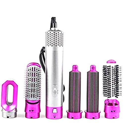 fansheng Sèche-Cheveux Fers Sèche-Cheveux électrique 5 en 1 Brosse à Air Chaud sèche-Cheveux Fer à friser Brosse rotative sèche-Cheveux Outils de Coiffure
