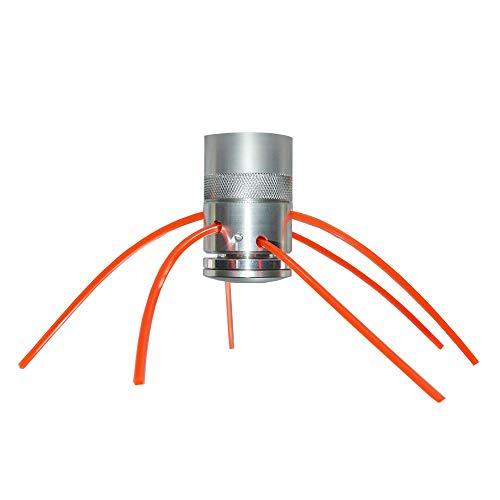 Cabezal multihilo universal de aluminio 'Gladiador' con cojinete inferior para desbrozadora y clones | Repuesto compatible con la mayoría de desbrozadoras originales o clones