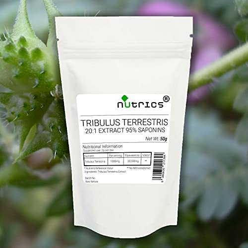 Nutrics 100% Pure Tribulus Terrestris Extract 20:1 95% Saponins 600g Powder
