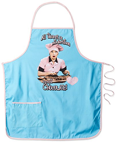 Spoontiques Love Lucy Apron, One Size, Blue