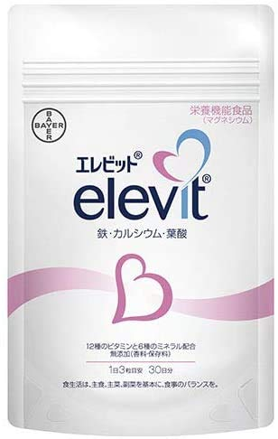 【公式】葉酸サプリエレビットElevitパウチ90粒バイエル薬品葉酸ビタミンミネラル鉄分妊活妊娠カルシウム