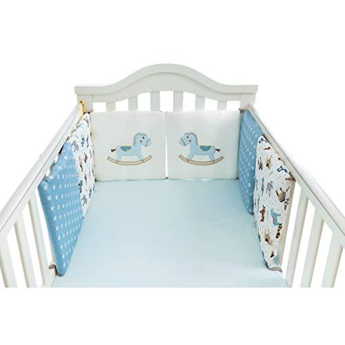 Read About VAIY Crib Guardrail Prevent Collision Cotton Fence 30x30cm 6-Piece Set (Color : D)