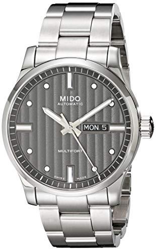 Mido Herren-Armbanduhr XL Multifort Analog Automatik Edelstahl M0054301106180