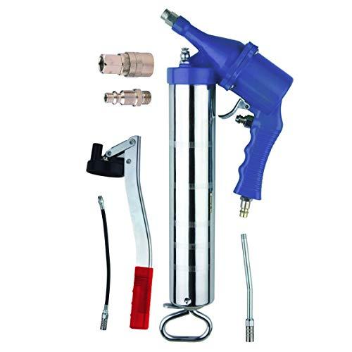 Pompe de graisse pneumatique + manuelle, pistolet de graissage 400cc pour atelier, voiture, bricolage
