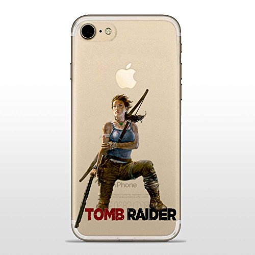 IP7 / IP8 / IPSE 2020 Cover TPU Gel Trasparente Morbida Custodia Protettiva, Game Collection, Tomb Raider, iPhone 7, iPhone 8, iPhone SE 2020