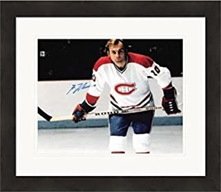 Guy Lafleur Autographed Picture - 8x10 Hall of Famer) #SC12 Matted & Framed - Autographed NHL Photos