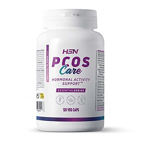 PCOS Care de HSN   Suplemento para Síndrome Ovario Poliquístico   de Alta Eficacia   Con Myo-Inositol + D-Chiro-Inositol   No-GMO, Vegano, Sin Gluten, Sin Lactosa   120 Cápsulas Vegetales