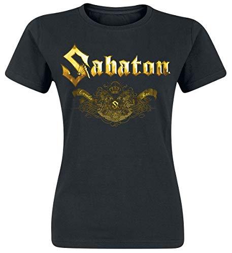 Sabaton Carolus Rex Platin Frauen T-Shirt schwarz S 100% Baumwolle Band-Merch, Bands, Nachhaltigkeit