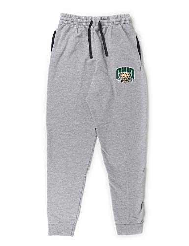 B-Wear Sportswear Ohio University Bobcats Rufus Logo Pocketed Sweatpants OU Unisex Joggers Athletic Heather
