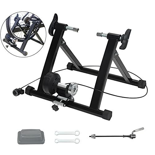 Kacsoo - Supporto per Bicicletta, in Acciaio Resistente, 64-28 cm, per Interni, con Piattaforma per Ciclismo, Telaio Fitness per Bicicletta, regolatore CVT, Saldatura Tubo in Acciaio da 1,5 mm