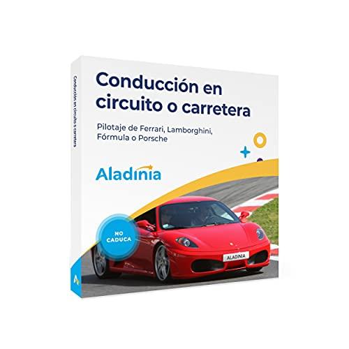 ALADINIA Conducción en Circuito o Carretera. Pack de experiencias Originales para Regalar. Cofre Regalo para Conducir...