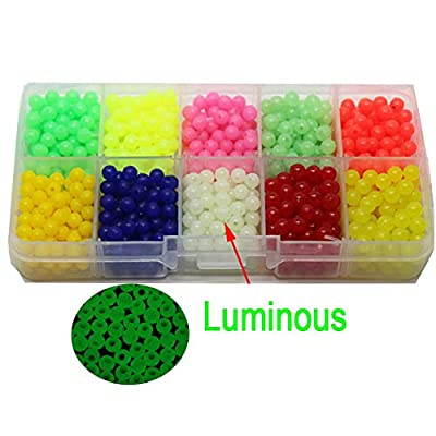 collectsound 1000Pcs/Set Carp Fishing Lures Beads Floating 5mm Luminous Glow Accessories by collectsound