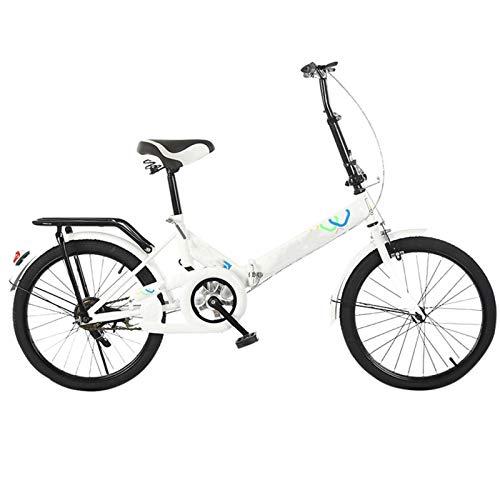 Vélo pour adulte pliable de 50,8 cm, trottinette portable et pliable pour économiser de l'espace pour le travail, l'environnement urbain et les trajets vers et depuis le travail