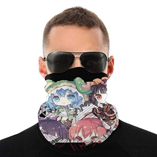 Bandanas Date A Live Acrylic Keychain Stand Headwear Bandanas Sports Cycling Neck Gaiter Warmer Breathable Anti-Dust Printed Seamless Festivals Head Wrap Multifunctional Outdoors