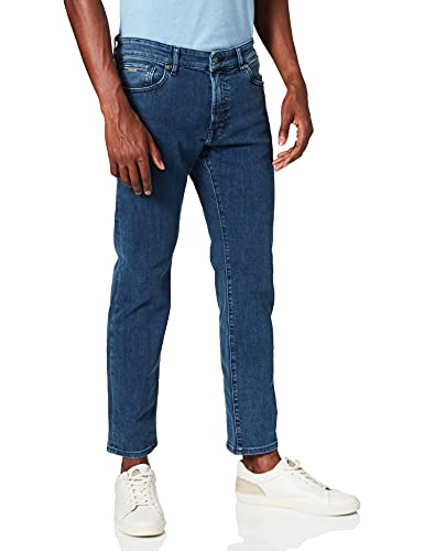 BOSS Herren Maine BC-P Regular-Fit Jeans aus Stretch-Denim in Used-Optik