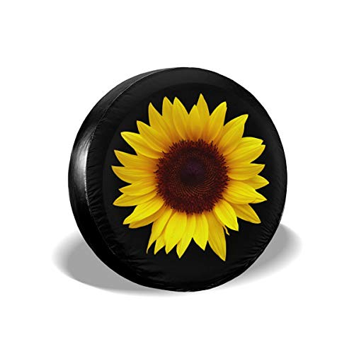 Ouqiuwa Sunflower Spare Tire Covers Wheel Protectors Weatherproof for Jeep Trailer RV SUV 17""