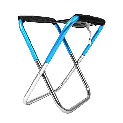 wanglongbaihuo Tragbare Camping-Stuhl Ultra Folding Rucksack Außen Klappstuhl Einfache Klapphocker tragbare Camping Fischen Zug Hocker Hocker Camping-Stuhl (Color : Blue)