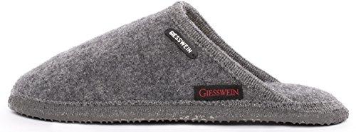 Giesswein Tino, Pantoffeln Unisex - Erwachsene, Grau, 41 EU