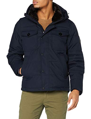 Tommy Hilfiger Removable Fur Hooded Bomber Chaqueta para Hombre