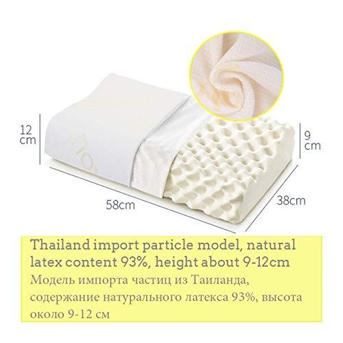 QHDM Orthopedische Massage Latex Kussen Voor Slaap Nek Pijn Relief Cervicale Bed Zacht Kussen Voor Zijslapers Beste Gift