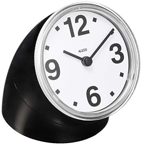 Alessi 01 B Cronotime, Tischuhr aus ABS, schwarz