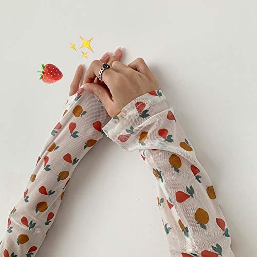 Tfsg Armlinge Sonnencreme Ärmel Ärmel Cool Schöne Mädchen Blume Armschutz Handschuhe @ AD