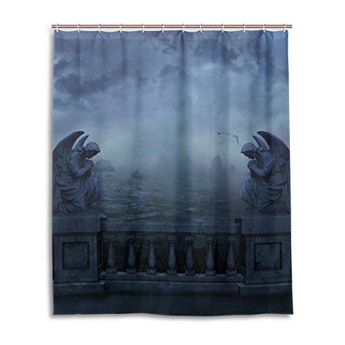 Bad Vorhang für die Dusche 152,4x 182,9cm Gothic Dark Cloud Sky Angel Gott Griechenland Polyester-Schimmelfest-Badezimmer Vorhang