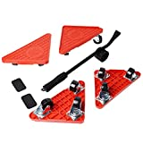 Gekufa Furniture Lifter Kit,Heavy Duty Furniture Movers with 4 Sliders for Sofas Couches and Refrigerators,Max Load for 200lbs for Each Slider(Total 800lbs),360° Rotatable