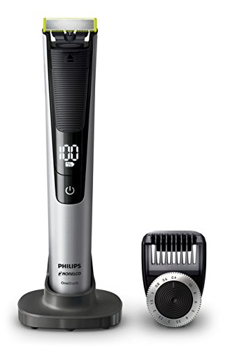 Philips Norelco OneBlade Pro, Hybrid Electric Trimmer and Shaver with Charging Stand and Precision Comb, QP6520/70