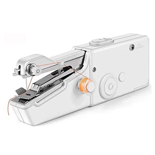 LKZL Mini Máquina de Coser, Máquinas de Coser Eléctricas de Mano, para Cortinas de Ropa, Manualidades de Bricolaje, para Principiantes, Adultos Y Viajes Familiares