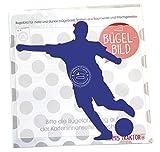 Bügelbild Gr. L Fußballer 11,7 x 13 cm DUNKELBLAU