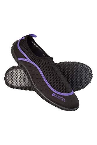 Mountain Warehouse Zapatillas acuáticas Bermuda para mujer - Zapatillas de agua de neopreno, zapatos de agua con forro de malla, ligeras y fáciles de poner, para playa Morado Talla Zapatos Mujer 42 EU