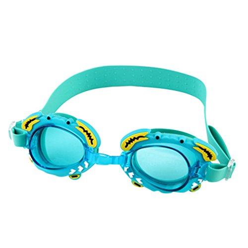 Tookang Natación Gafas Luz Plana Gafas A Prueba De Agua Antiempañamiento Anti UV Alta Lente De Transmitancia Viene Con Caja De Gafas Para Adultos