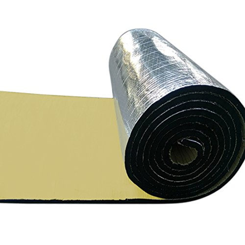 uxcell 394mil 16.36sqft Car Noise Sound Deadener Deadening Insulation Mat Waterproof 60 x 40 Inches