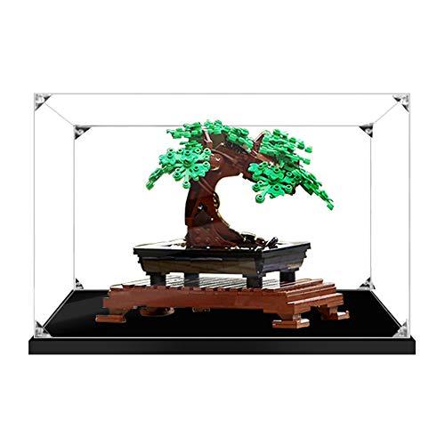 QXQY Estuche de acrílico a prueba de polvo para Lego 10281 Bonsai Tree , caja de exhibición a prueba de polvo para Lego 10281 (no incluye modelo Lego)