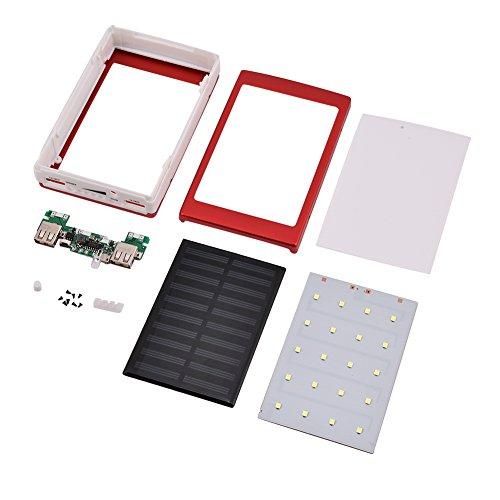Rosvola Power Bank DIY Kit, Charger DIY Kit, Cargador de batería USB Dual de plástico para el hogar al Aire Libre(Rose Red)