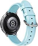Correa de Reloj Compatible con Amazfit Bip/Bip Lite/Bip S/Bip U, Reloj de Pulsera de Piel auténtica, Estilo Vintage (20mm, Pattern 3)