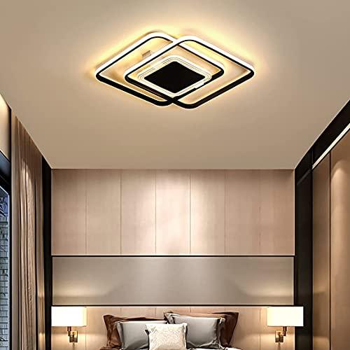 Lámpara de techo LED para dormitorio, regulables con control remoto, moderna lámpara de techo para sala de estar, comedor, cocina, salón, iluminación de techo brillante