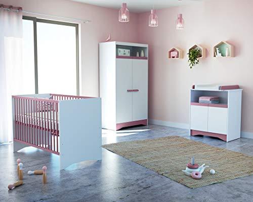 Chambre Complète COTILLON Blanc/Rose