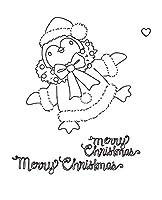 DIYスクラップブッキングフォトアルバム用の10x8の女の子の透明なクリアシリコンスタンプシール装飾的なクリアスタンプ