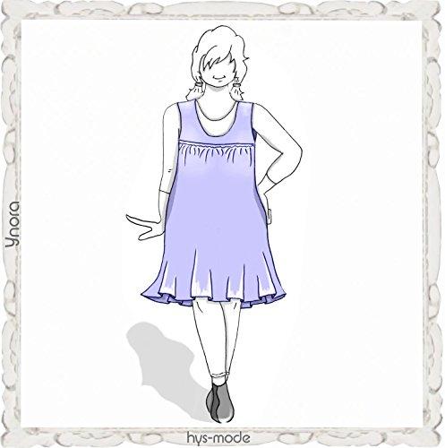 Einzel- Schnittmuster hys-mode Gr. XS - 5XL Lagenlook ~YNORA~ Tunika Kleid Bluse Faltenkleid Trägerrock Big Size XXL Mode (XL)