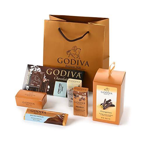 Bolsa dorada de regalo de Chocolate Godiva