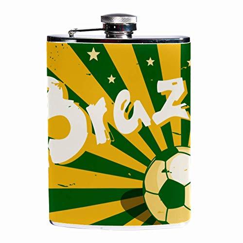 Petaca a prueba de fugas, botella de licor de 7.6 onzas, funda de piel con diseño de flagón, con rayas grises, negras y blancas, contenedor de bolsillo para bebidas discretas de whisky y alcohol Color2