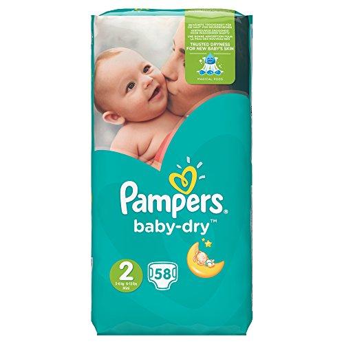 Pampers–Baby Dry (3–6kg/Größe 2) 58Windeln